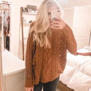 Oversized Burnt Orange Sweater